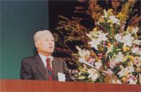 歓迎のあいさつに立つ 答島 海志 大阪府本部長